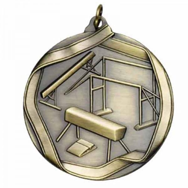Médaille Or Gymnastique 2 1/4 po MS608AG