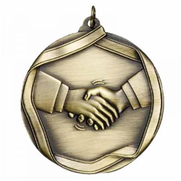 Handshake Gold Medal 2 1/4 in MS658AG