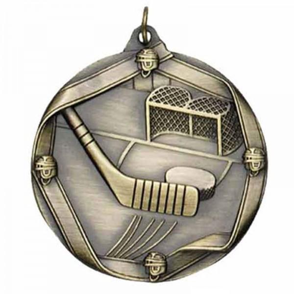 Médaille Or Hockey 2 1/4 po MS610AG