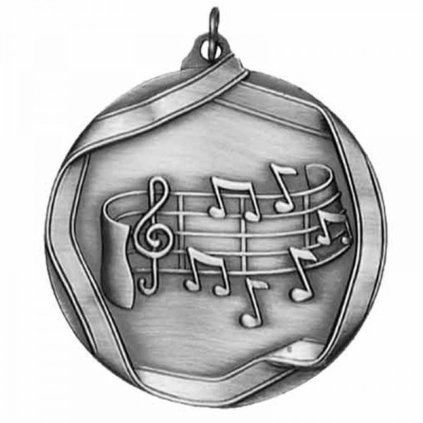 Music Silver Medal 2 1/4 in MS659AS