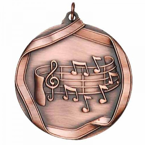 Music Bronze Medal 2 1/4 in MS659AB