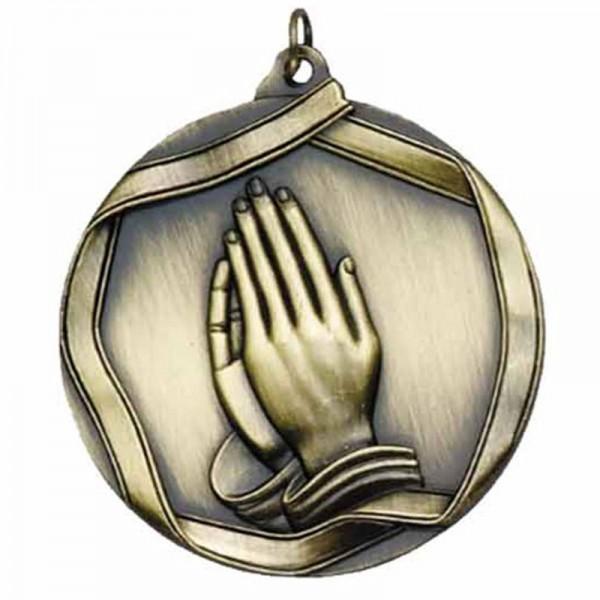 Prayer Gold Medal 2 1/4 in MS661AG