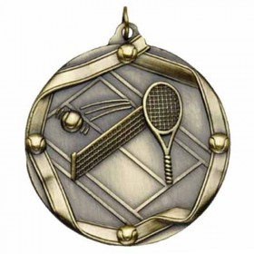 Médaille Or Tennis 2 1/4 po MS615AG