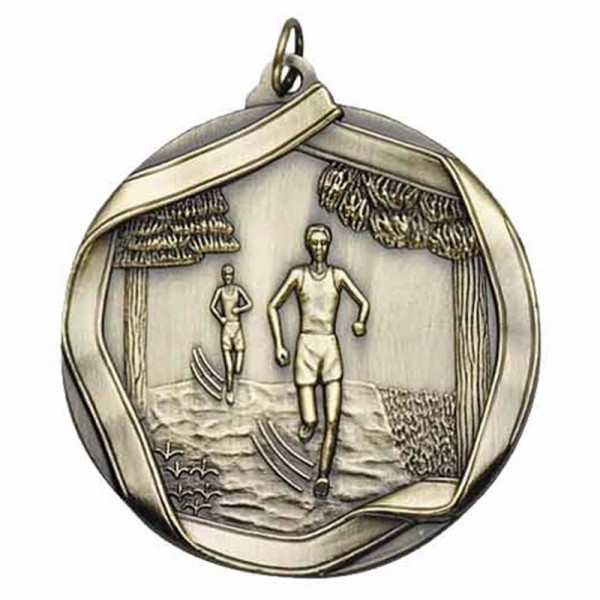 Cross Country Gold Medal 2 1/4 in MS655AG