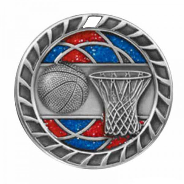 Médaille Argent Basketball 2 1/2 po M803AS