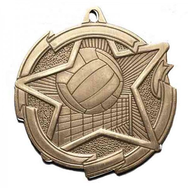 Médaille Or Volleyball 2 3/8 po MD1717AG