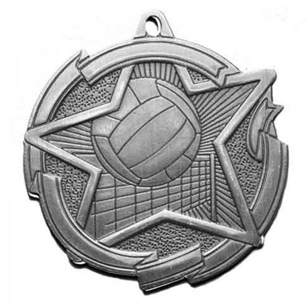 Médaille Argent Volleyball 2 3/8 po MD1717AS