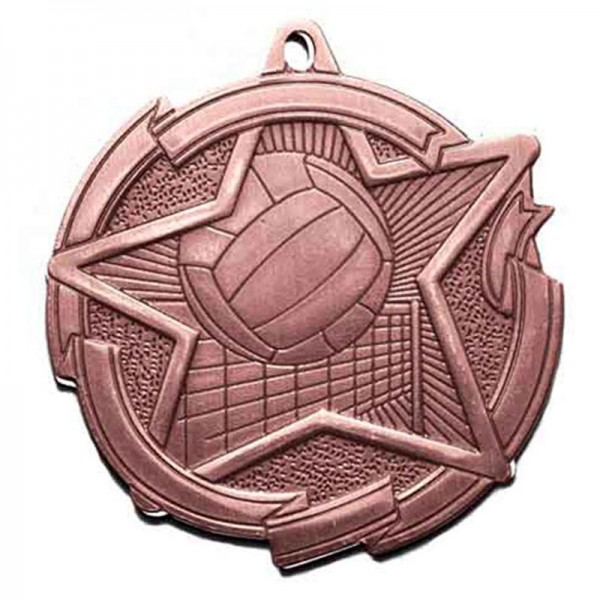 Volleyball Bronze Medal 2 3/8 in MD1717AB