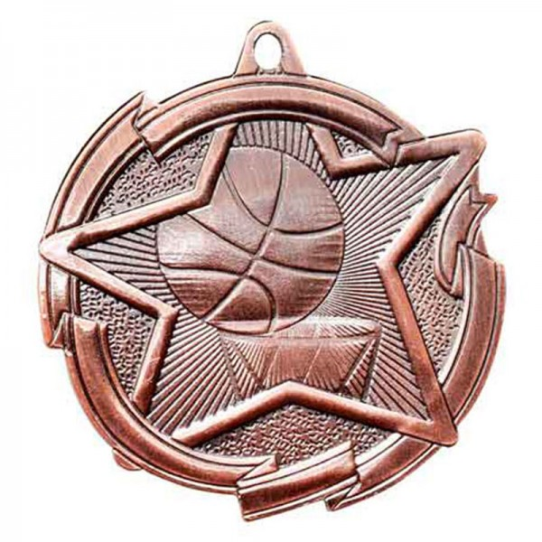 Basketball Bronze Medal 2 3/8 in MD1703AB