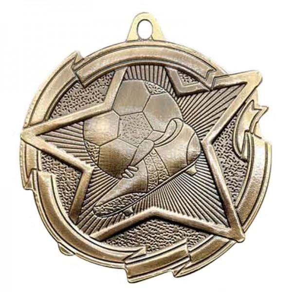 Gold Soccer Medal 2 3/8 in MD1713AG