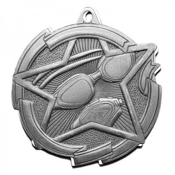 Swimming Silver Medal 2 3/8 in MD1714AS