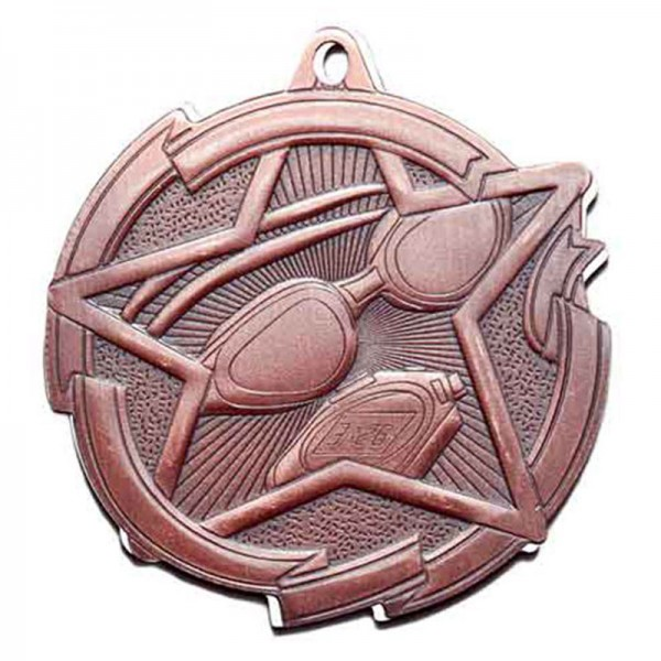 Swimming Bronze Medal 2 3/8 in MD1714AB