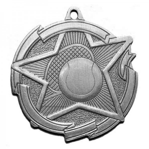 Tennis Silver Medal 2 3/8 in MD1715AS
