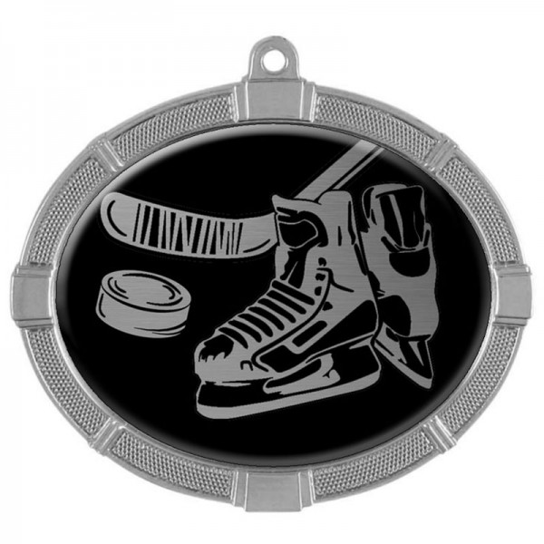 Hockey Silver Medals 3 3/8 in MMI62810S