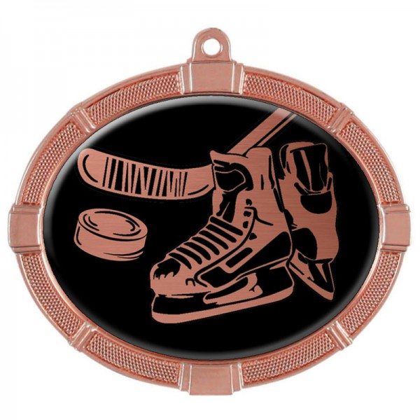 Hockey Bronze Medals 3 3/8 in MMI62810Z