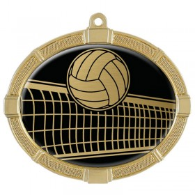 Médaille Or Volleyball 3 3/8 po MMI62817G