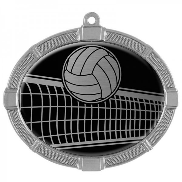 Médaille Argent Volleyball 3 3/8 po MMI62817S