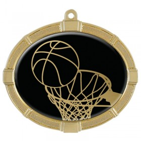 Basketball Gold Medals 3 3/8 in MMI62803G