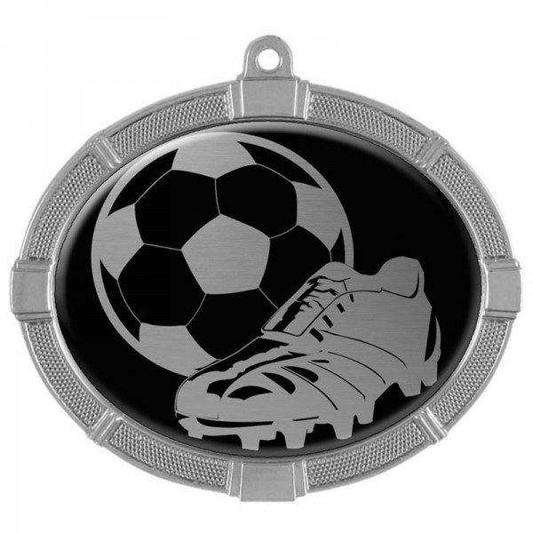 Soccer Silver Medals 3 3/8 in MMI62813S