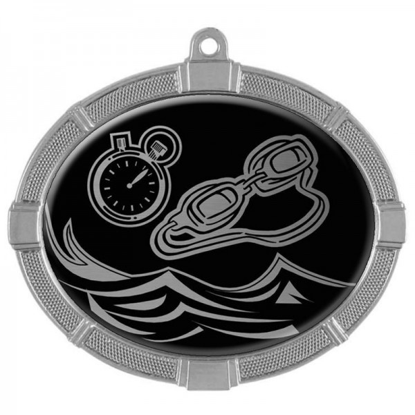 Swimming Silver Medals 3 3/8 in MMI62814S