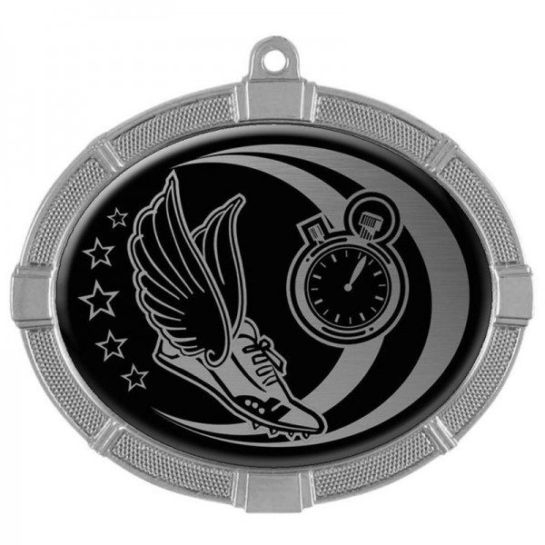 Track silver Medals 3 3/8 in MMI62816S