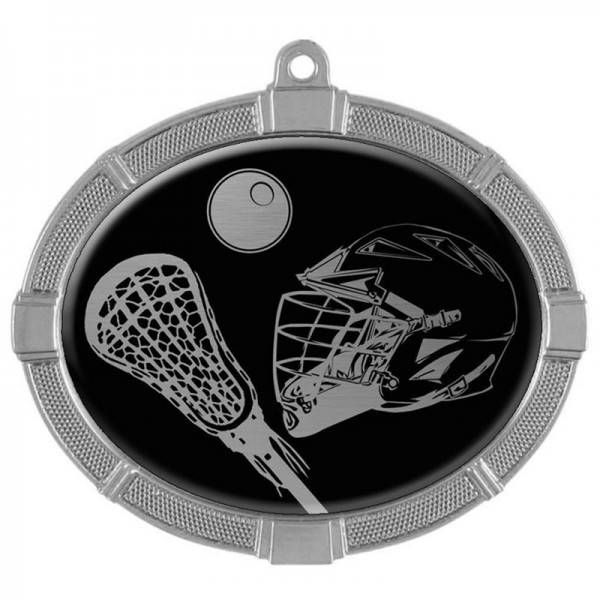 Lacrosse Silver Medals 3 3/8 in MMI62828S