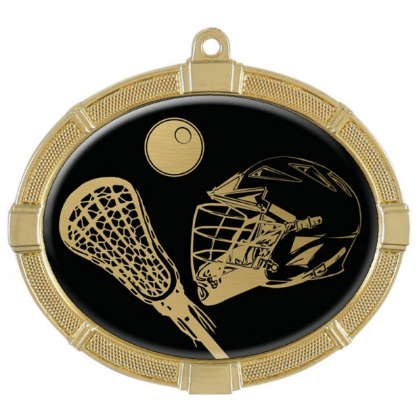 Lacrosse Gold Medals 3 3/8 in MMI62828G