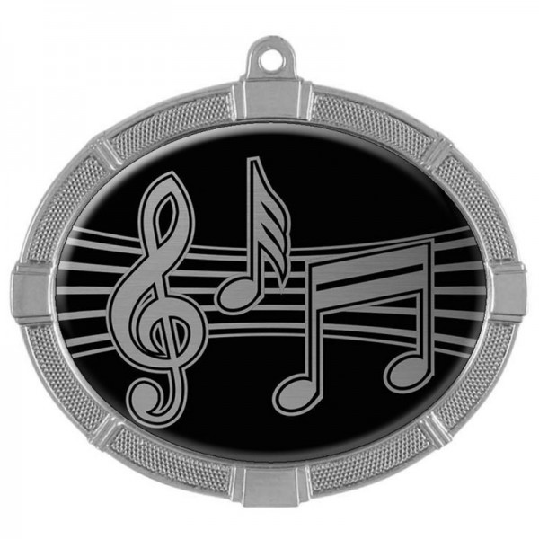 Music Silver Medals 3 3/8 in MMI62830S
