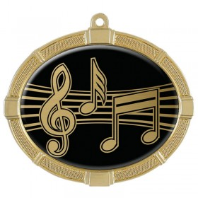Music Gold Medals 3 3/8 in MMI62830G