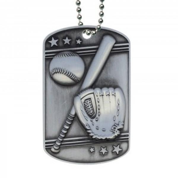 Médaillon Dog Tag de Baseball MDT2102