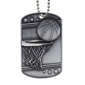 Médaillon Dog Tag de Basketball MDT2103