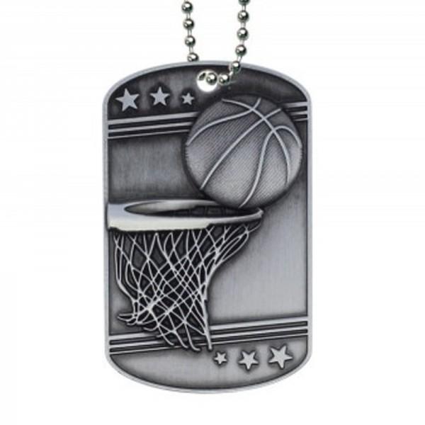 Médaillon Dog Tag de Basketball MDT2103