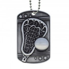 Médaillon Dog Tag de Lacrosse MDT2128
