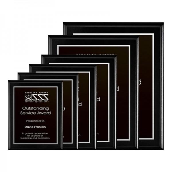 Plaque Noire - Série Laser PLV120-BLACK-S2-SIZES