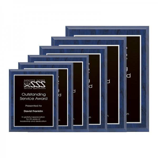 Plaque Bleue - Série Laser PLV120-BLUE-S2-SIZE