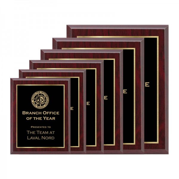 Red Plaque - Laser Series PLV120-RED-G2-SIZE