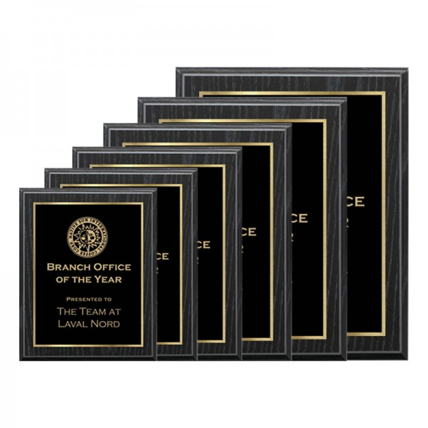 Plaque Chêne Noir - Série Laser PLV120-OAK-G-SIZES
