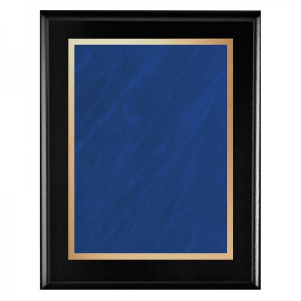 Black Plaque - Marble Mist Series PLV465-BK-BL-CLEAN