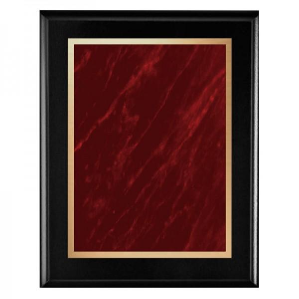 Plaque Noire - Série Marble Mist PLV465-BK-RED-CLEAN