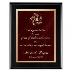 Plaque Noire - Série Marble Mist PLV465-BK-RED