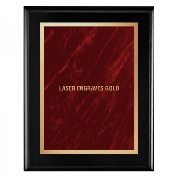 Plaque Noire - Série Marble Mist PLV465-BK-RED-LASER