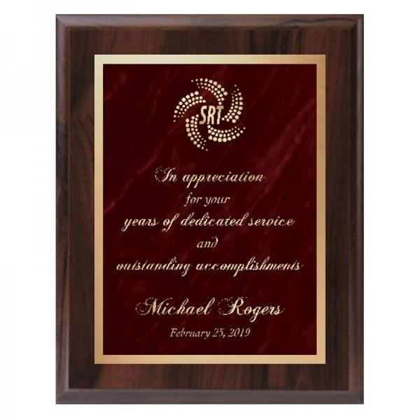 Plaque Merisier - Série Marble Mist PLV465-CW-RED