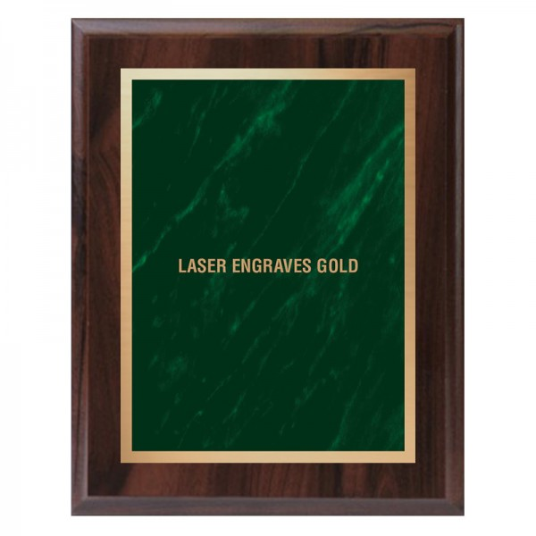 Plaque Merisier et verte PLV465-CW-GR-LASER