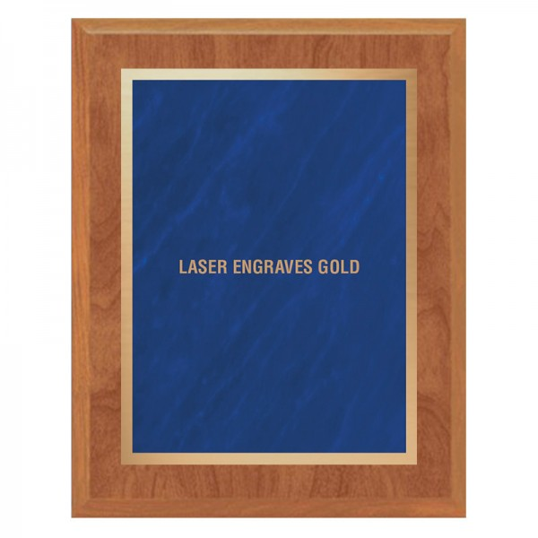 Maple and Blue Plaque PLV465-MAPLE-BL-LASER