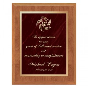 Maple and Red Plaque PLV465-MAPLE-RED