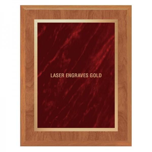 Plaque Érable et Rouge PLV465-MAPLE-RED-LASER