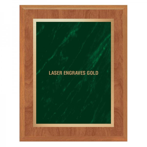 Maple and Green Plaque PLV465-MAPLE-GR-LASER