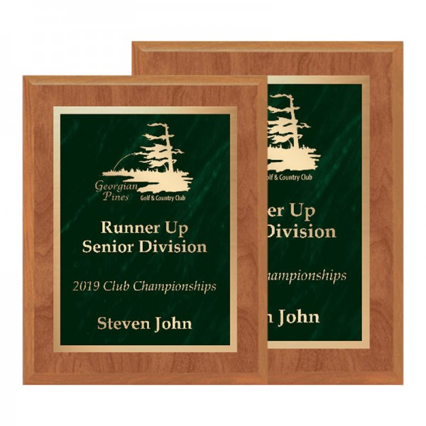 Maple and Green Plaque PLV465-MAPLE-GR-SIZES