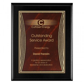 Black and Red Tribute Plaque PLV555BK-RD