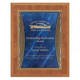 Maple and Blue Tribute Plaque PLV555MAPLE-BL